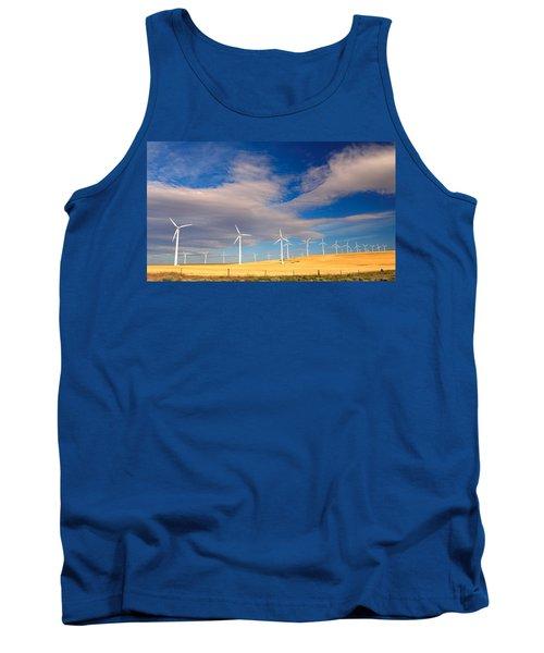 Wind Farm Against The Sky Tank Top
