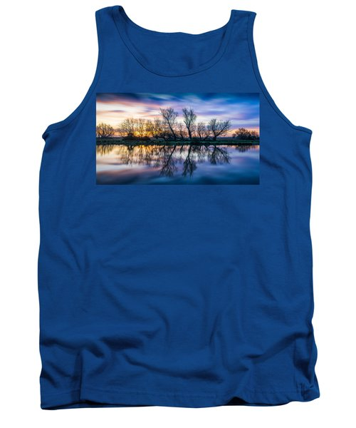 Winter Sunrise Over The Ouse Tank Top