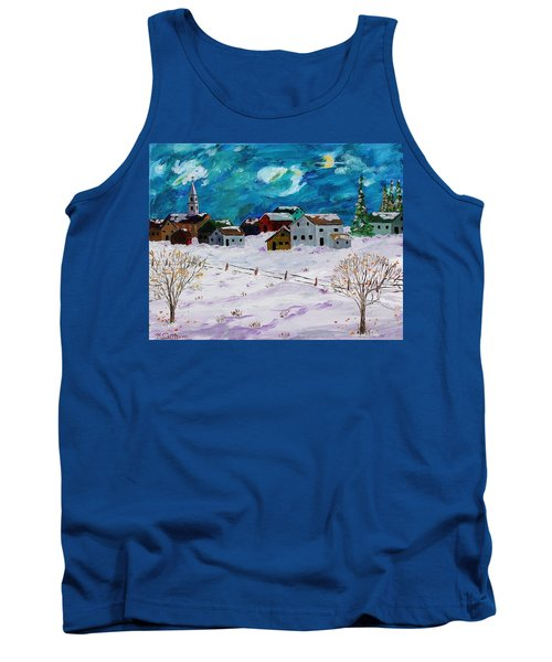 Winter Village Tank Top by Mike Caitham