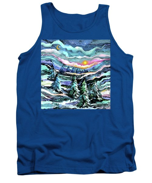 Winter Woods At Dusk Tank Top