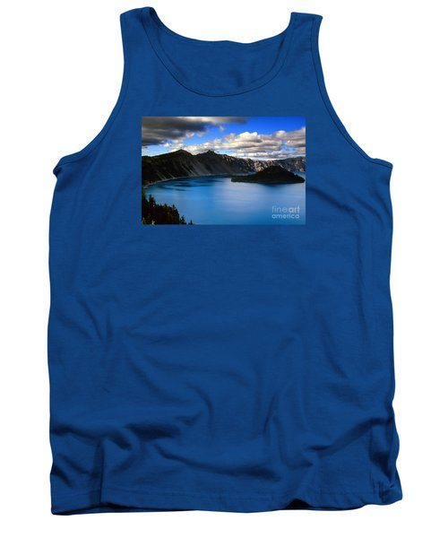 Wizard Island Stormy Sky- Crater Lake Tank Top