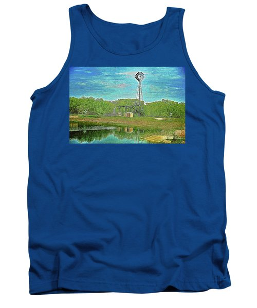 Tank Top featuring the photograph Working Windmill  by Ray Shrewsberry