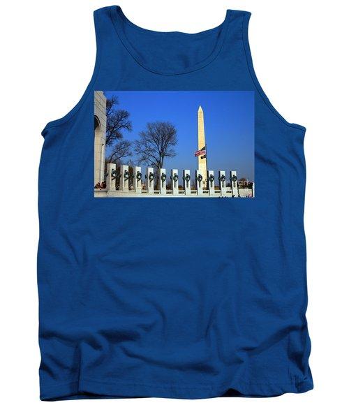 World War II Memorial And Washington Monument Tank Top