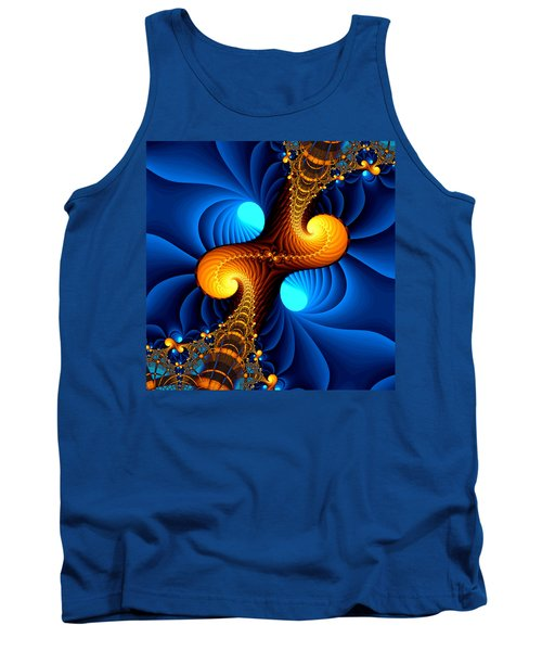 Tank Top featuring the digital art Wormhole by Svetlana Nikolova