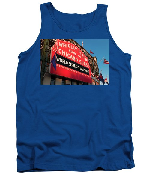 Wrigley Field World Series Marquee Angle Tank Top by Steve Gadomski