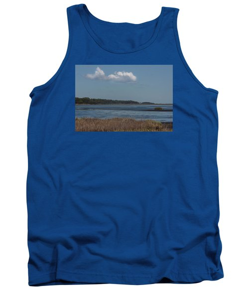 Tank Top featuring the photograph Yawkey Wildlife Reguge - View From The Causeway by Suzanne Gaff