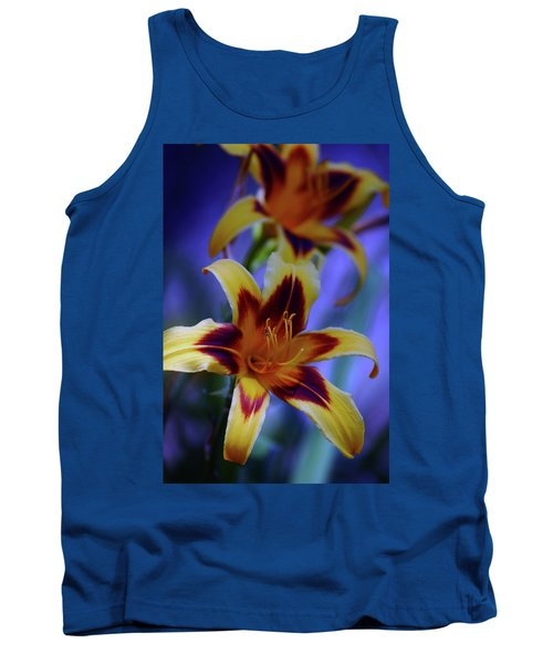 Yellow And Orange And Garnet Daylilies 1270 H_2 Tank Top