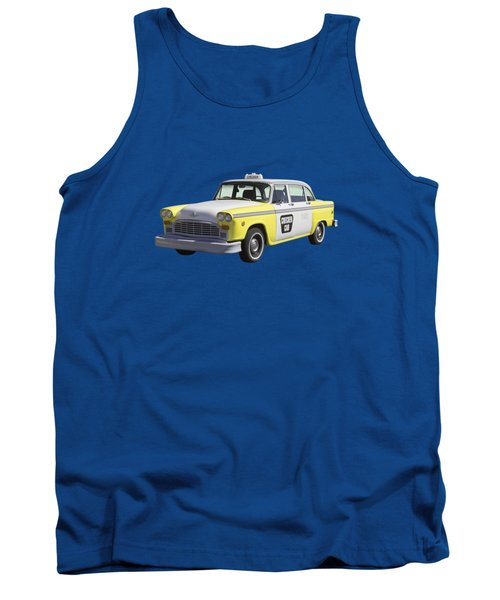 Yellow And White Checker Cab Tank Top