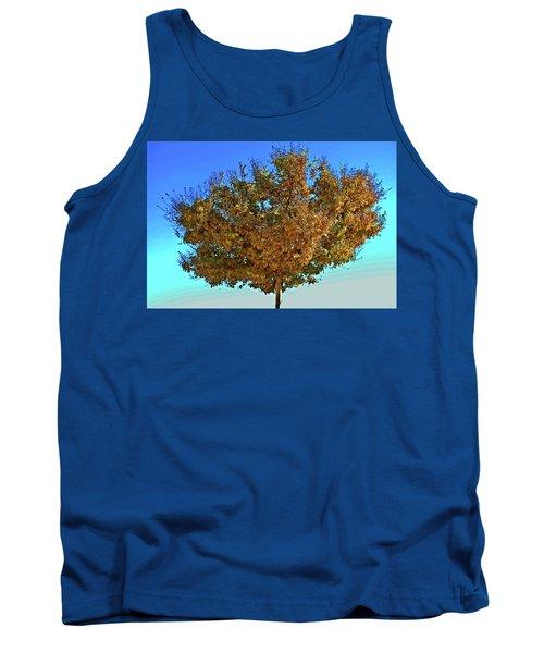 Yellow Tree Blue Sky Tank Top