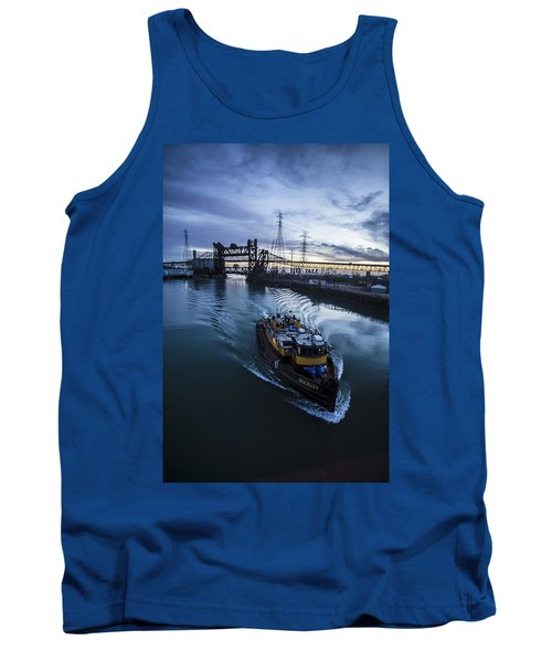 Yellow Tug Boat Approaching  Tank Top