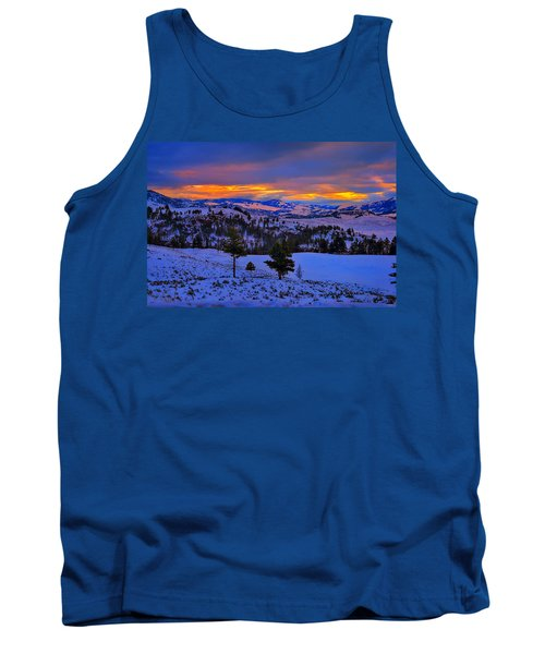 Tank Top featuring the photograph Yellowstone Winter Morning by Greg Norrell