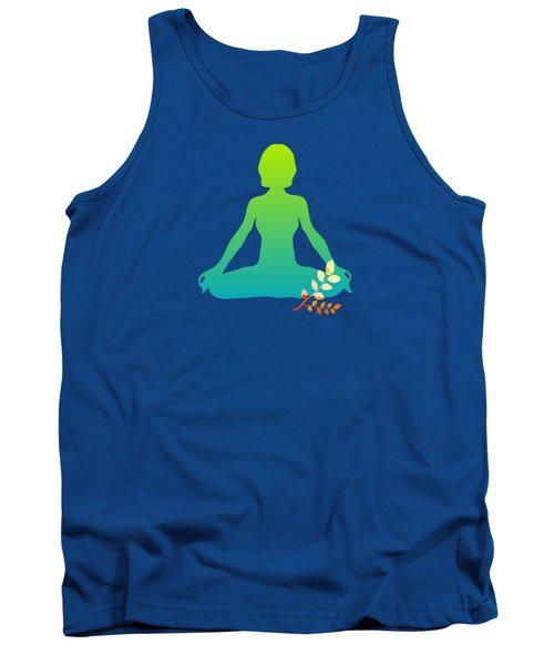 Yoga Meditation Pose Abstract Illustration Tank Top