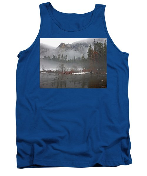 Tank Top featuring the photograph Yosemite Winter Beginnings by Walter Fahmy