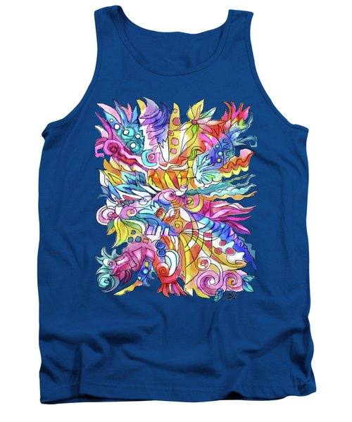Zentangle-off The Cuff Tank Top