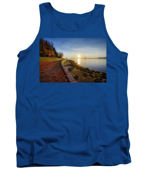Colorful Autumn Sunrise At Stanley Park Tank Top