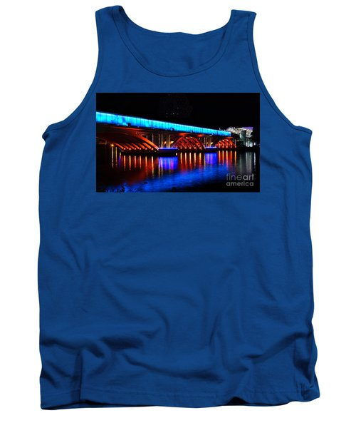 Evening View Of The Love River And Illuminated Bridge Tank Top
