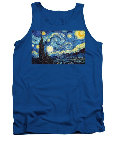 Starry Night By Van Gogh Tank Top
