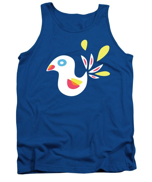 Abstract Bird In Spring Tank Top