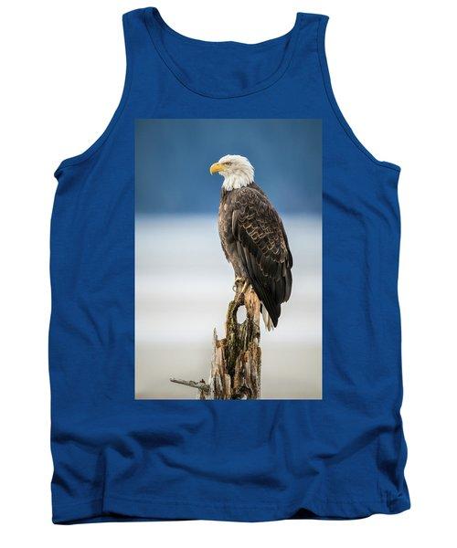 Bald Eagle On Snag Tank Top