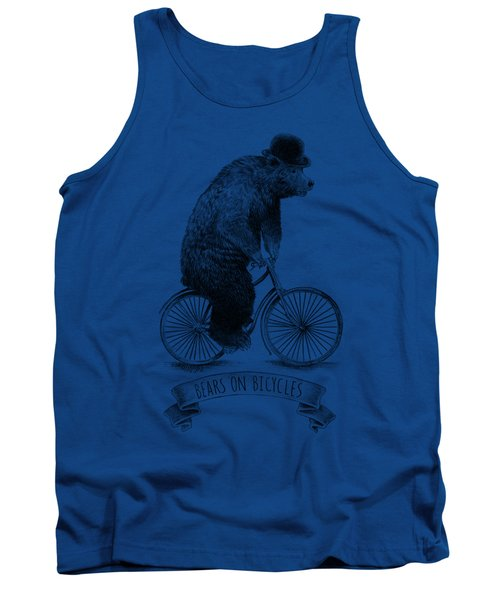 Bears On Bicycles - Lime Tank Top