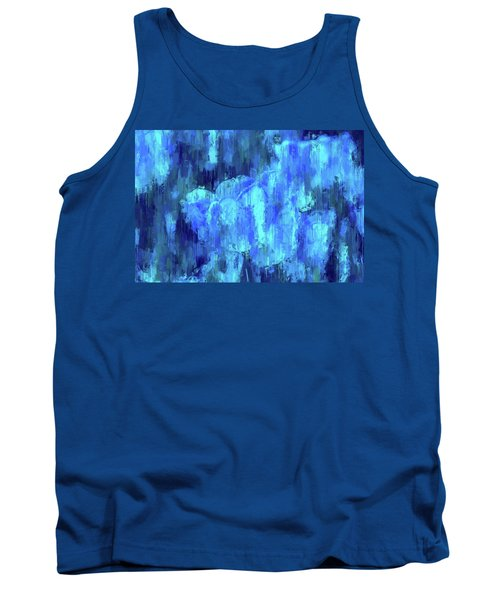 Blue Tulips On A Rainy Day Tank Top