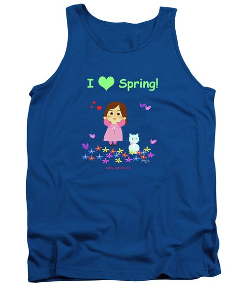Cathy And The Cat I Love Spring Tank Top