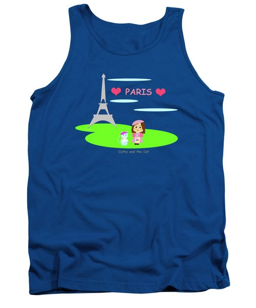 Cathy And The Cat In Paris Tank Top