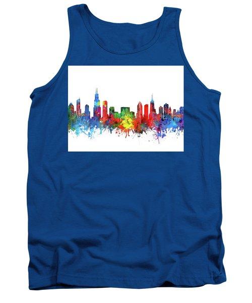 Chicago Skyline Watercolor Tank Top