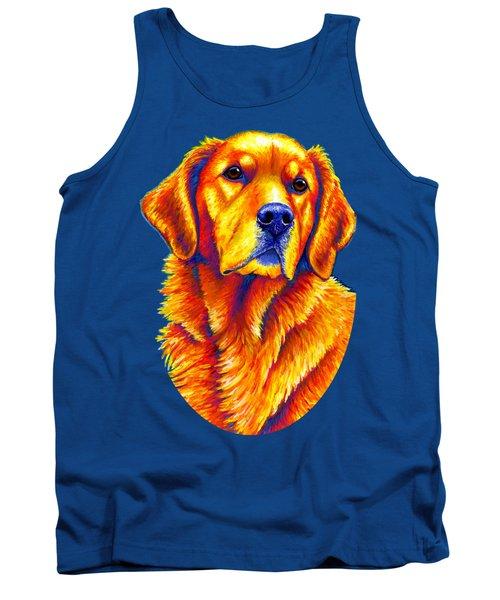 Colorful Golden Retriever Dog Tank Top