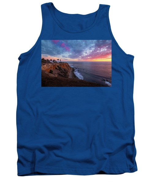 Colorful Sky After Sunset At Point Vicente Lighthouse Tank Top