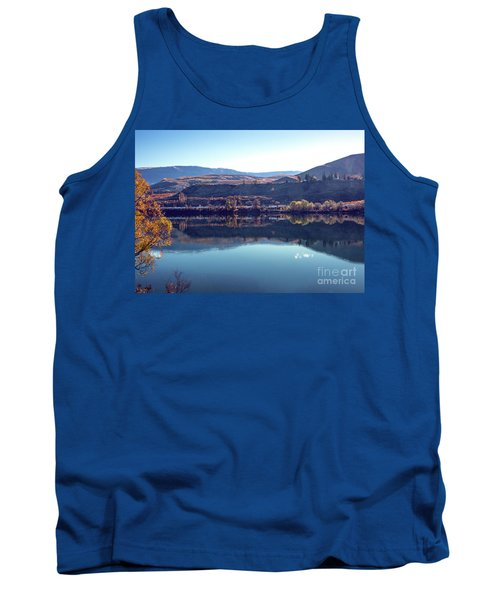 Tank Top featuring the photograph Train Reflection by Mae Wertz