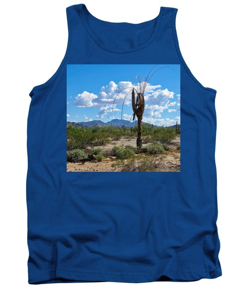 Dying Saguaro In The Desert Tank Top