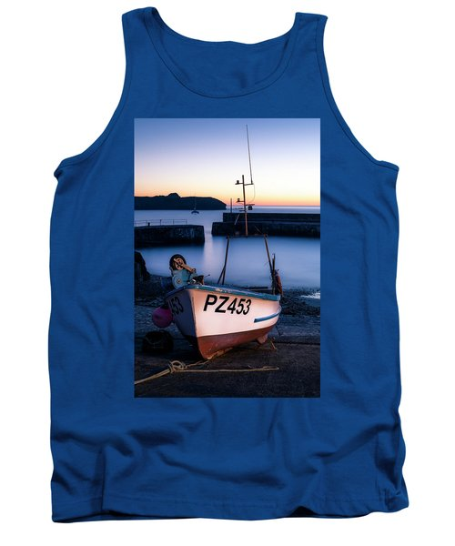Fishing Boat In Mullion Cove Tank Top