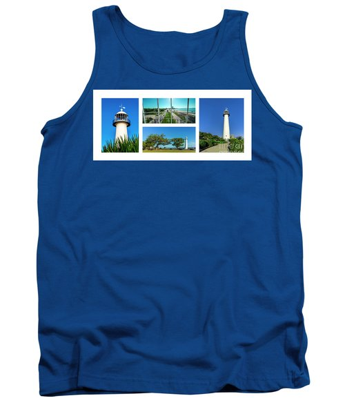 Grand Old Lighthouse Biloxi Ms Collage A1a Tank Top