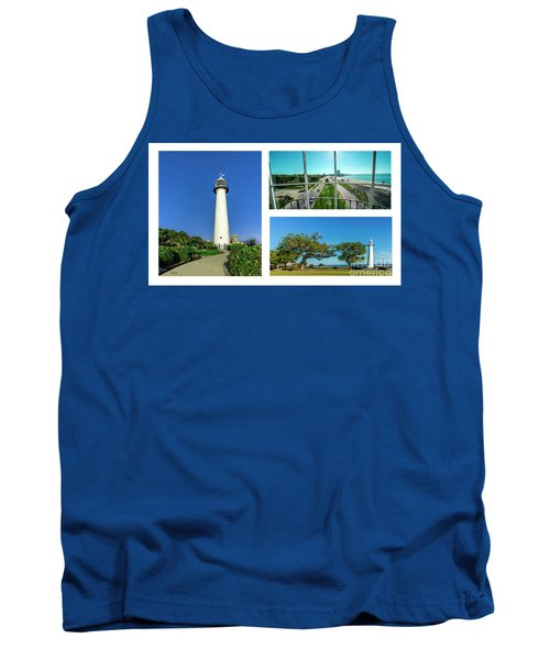 Grand Old Lighthouse Biloxi Ms Collage A1d Tank Top