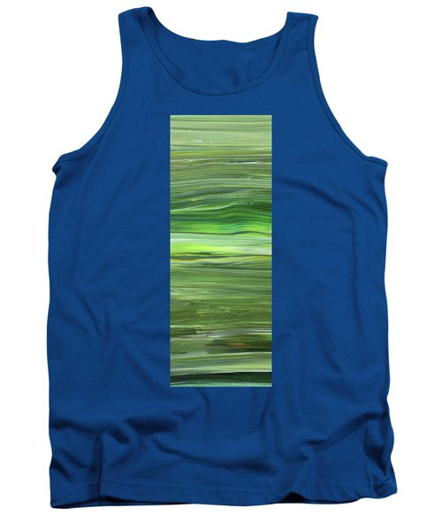 Green Abstract Meditative Brush Strokes IIi Tank Top