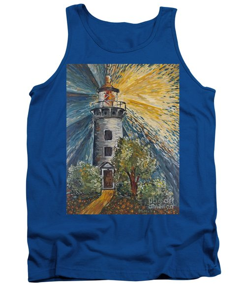 Tank Top featuring the painting Illumination by Maria Langgle