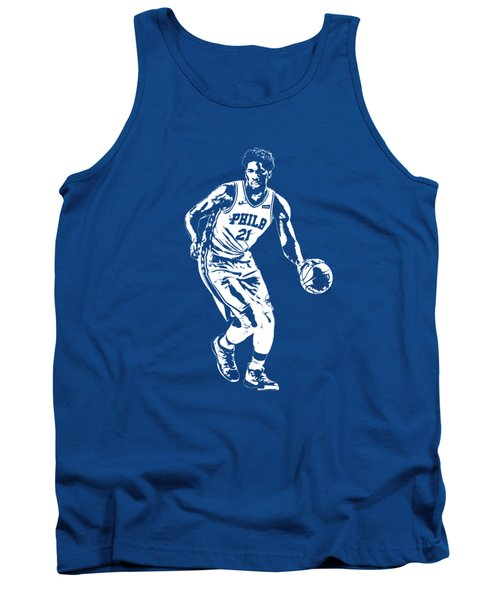 Joel Embiid Philadelphia 76ers T Shirt Apparel Pixel Art 1 Tank Top
