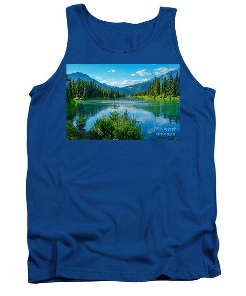 Lake At Banff Indian Trading Post Tank Top