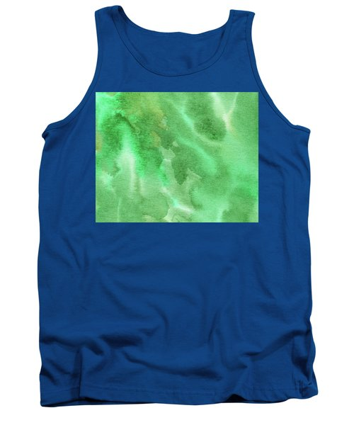 Light Through Green Marble Abstract Watercolor Tank Top