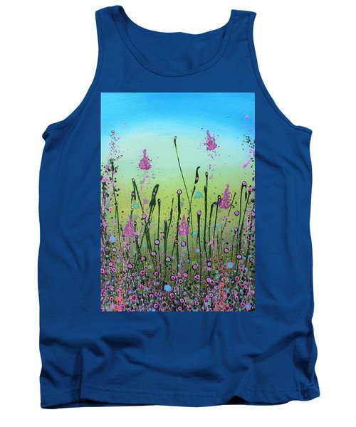 Lilacs And Bluebells Tank Top