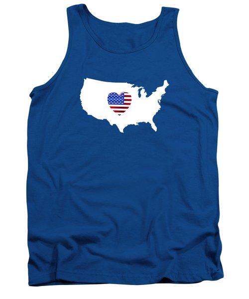 Love America Map Tank Top