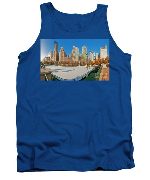 Mccormick Tribune Plaza Ice Rink And Skyline   Tank Top