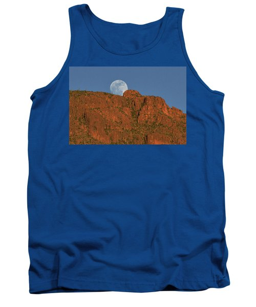Moonrise Over The Tucson Mountains Tank Top