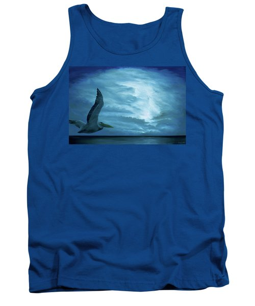 Tank Top featuring the painting Out Of The Blue by Kevin Daly