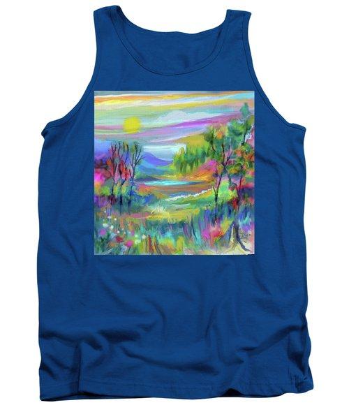 Pastel Landscape Tank Top