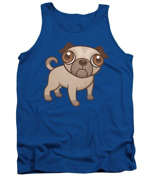 Pug Puppy Cartoon Tank Top