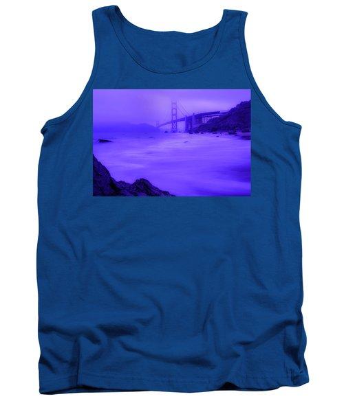 Purple Golden Gate Fog Tank Top
