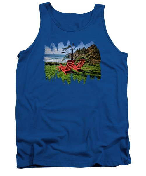 Red Chairs At Agate Beach Tank Top