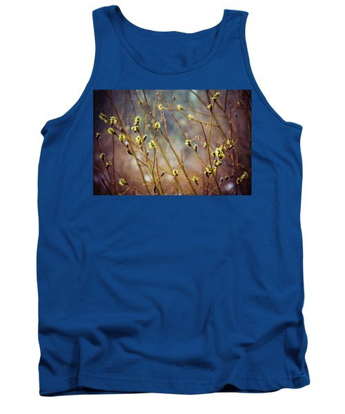 Tank Top featuring the photograph Snowfall On Budding Willows by Laura Roberts